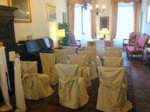 La sala per il matrimonio con rito civile a Palazzo Bove